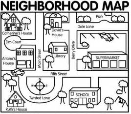 activity map template neighborhood map for map dictation activity preschool