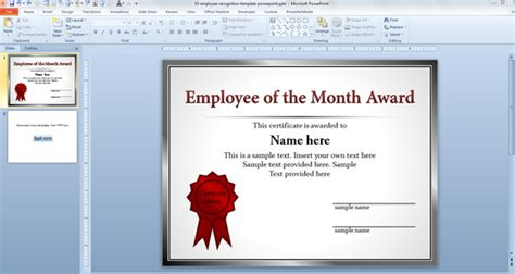manager of the month certificate template animated powerpoint templates for employee recognition and