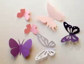 How To Make Wall Decor At Home 3d paper butterfly wall sticker room decoration baby