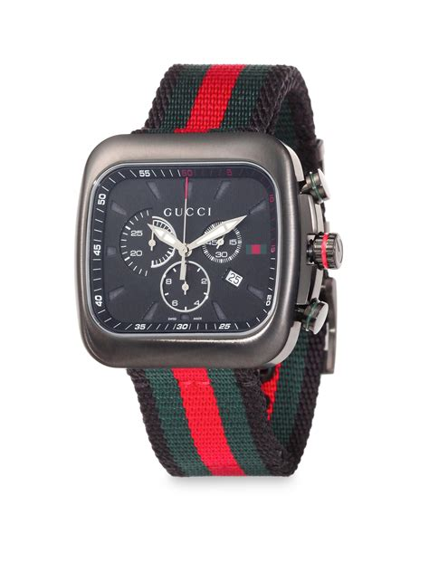 Gucci Coupé Chronograph Watch in Red for Men (GREEN RED)   Lyst