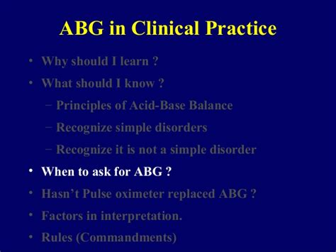 abg in clinical practice
