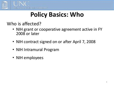 nih grant sections the nih public access policy and compliance requirements
