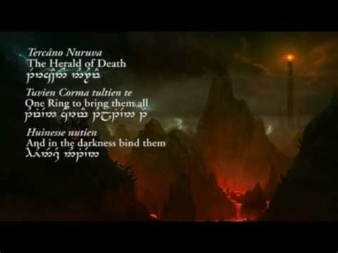 the prophecy (quenya lyrics in tengwar) lord of the