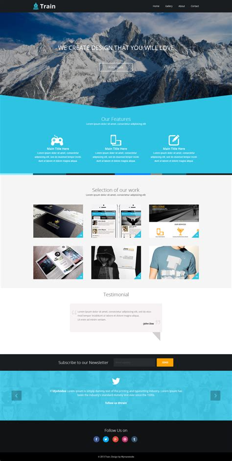 free landing page design templates for free download psd html free train landing page template psd titanui