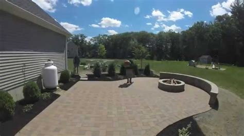 what does 500 square look like paver patio construction time lapse