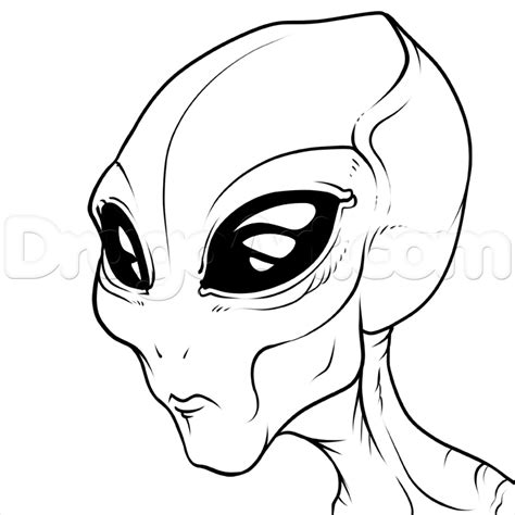 Drawing B W by How To Draw A Gray The Grays Step By Step Aliens