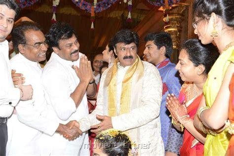 Chiranjeevi at balakrishna daughter marriage pics