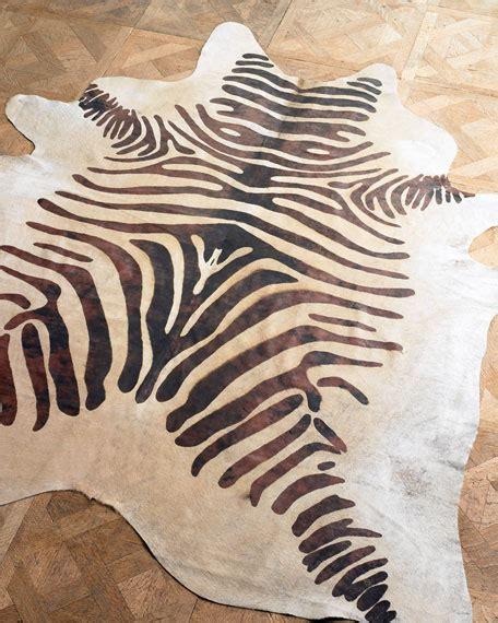 animal hide rugs quot zebra hide quot rug