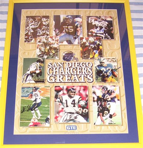 san diego chargers poster san diego chargers greats autographed poster framed lance