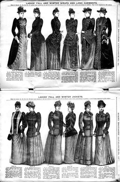 fashion design history stern brothers no 66 1890 fall and winter 1891 fashion