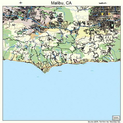 california map malibu malibu california map 0645246