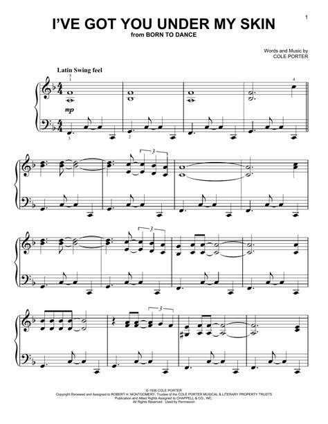 Partition piano I've Got You Under My Skin de Cole Porter
