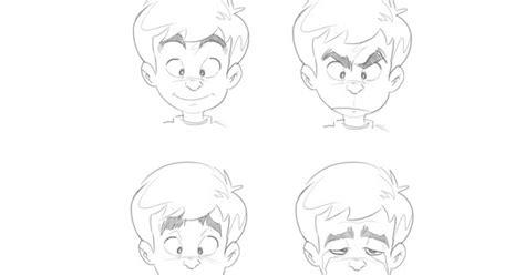 tutorial menggambar tiga dimensi menggambar ekspresi wajah kartun dengan perubahan