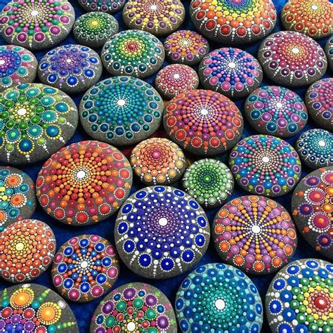 colorful stones stones covered in colorful tiny dots fubiz media