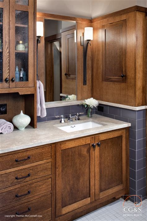done right cabinet craftsman done right craftsman bathroom austin by