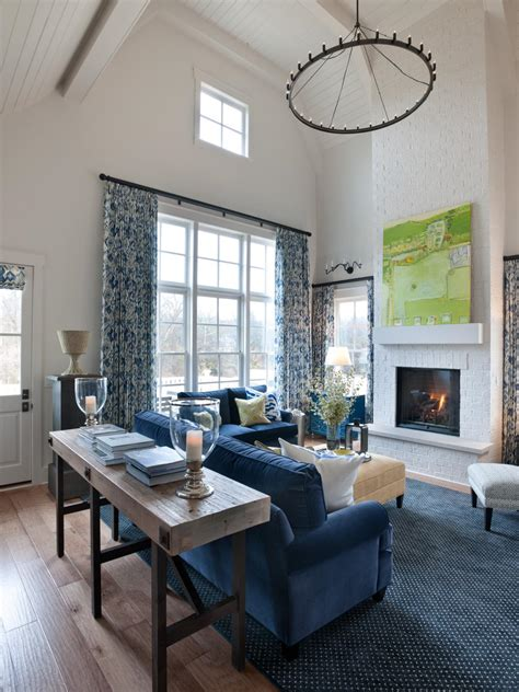 soaring ceilings outfitted  white beadboard paired