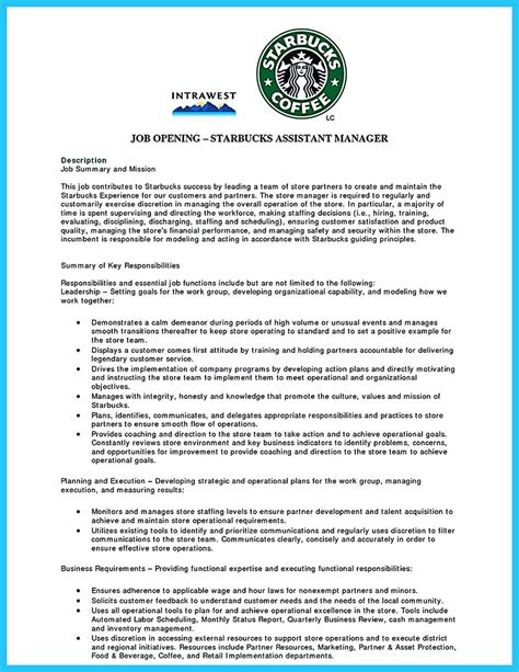 resume for starbucks barista free resume exle and