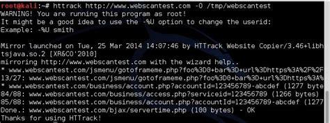 kali linux httrack tutorial cloning website with httrack on kali linux jakarta
