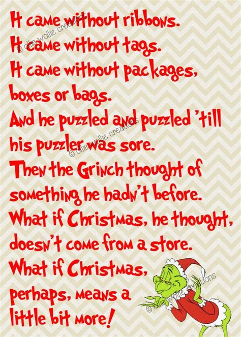 printable version of how the grinch stole christmas 5x7 how the grinch stole christmas printable by