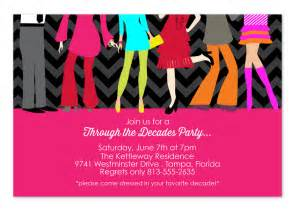 decades party party invitations by invitation