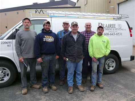 our team prairie plumbing and heating inc