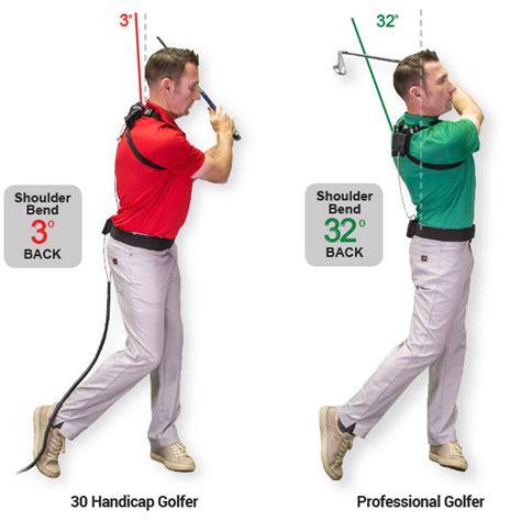 shoulder position in golf swing swingtru motion study golftec