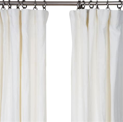 Belgian flax linen drapery off white 50 quot x108 quot farmhouse curtains by barn amp willow