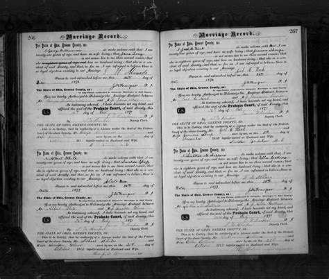 Ohio Marriage Records Genealogy File Ohio County Marriages 1789 2013 Greene Marriage Records 1870 1874 Vol 5 Page