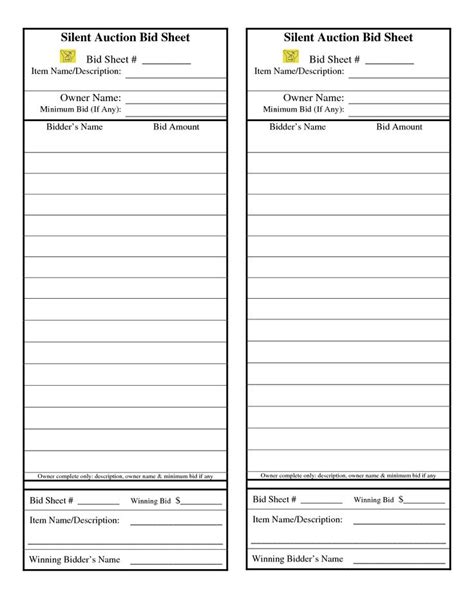 silent auction winner tax deduction receipt template silent auction auction and search on
