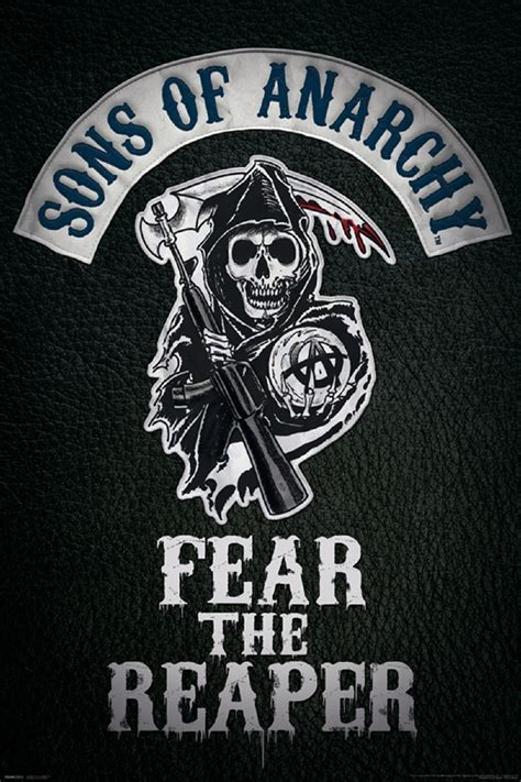 Skull Home Decor by Sons Of Anarchy Fear The Reaper Poster