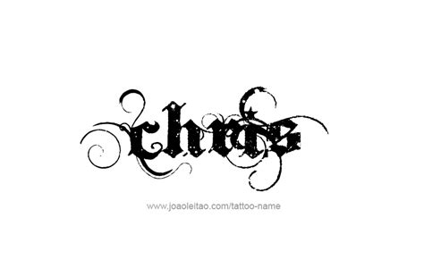 chris name tattoo designs