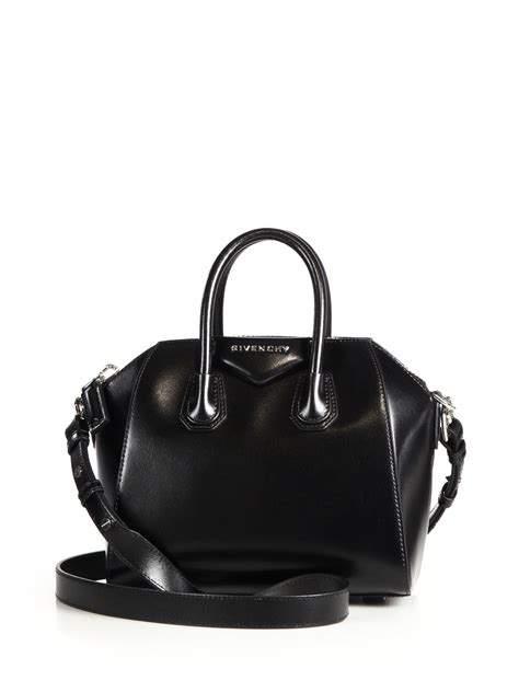 Givency Antigona Mini givenchy antigona mini leather satchel in black lyst