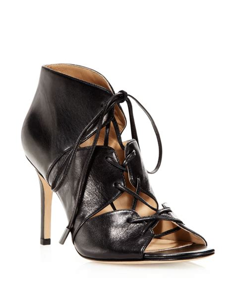 cage high heel sandals via spiga sandals vibe caged high heel in black lyst