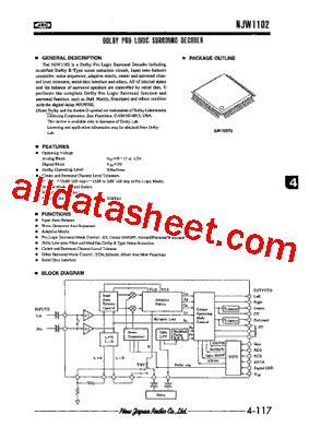 transistor njw njw1102 datasheet pdf new japan radio