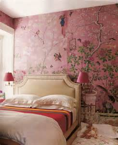 pink wallpaper for bedroom de gournay in the pink the glam pad