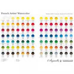 sennelier watercolour printed colour chart colour charts studio jackson s supplies