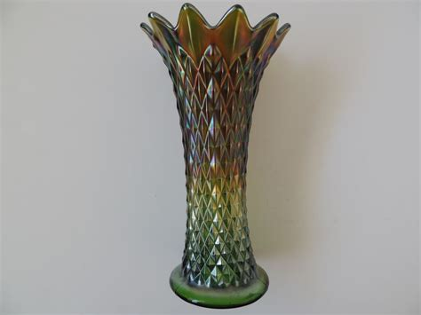 Carnival Glass Vase by H111 3l Jpg 37