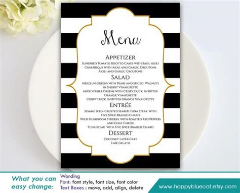 wedding menu template word diy printable wedding menu template instant