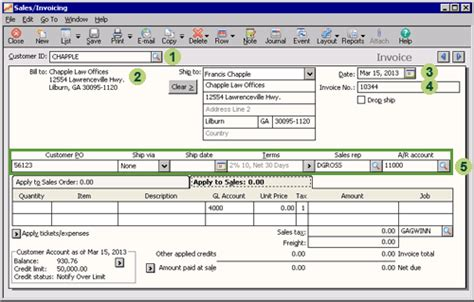 sle invoice records sage 50 learning sales transactions