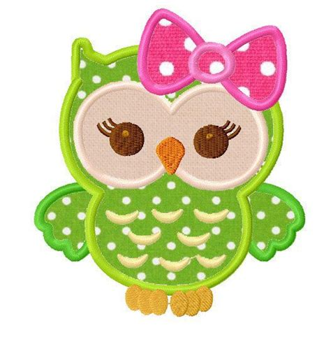 machine embroidery designs applique girly owl applique machine embroidery design sew