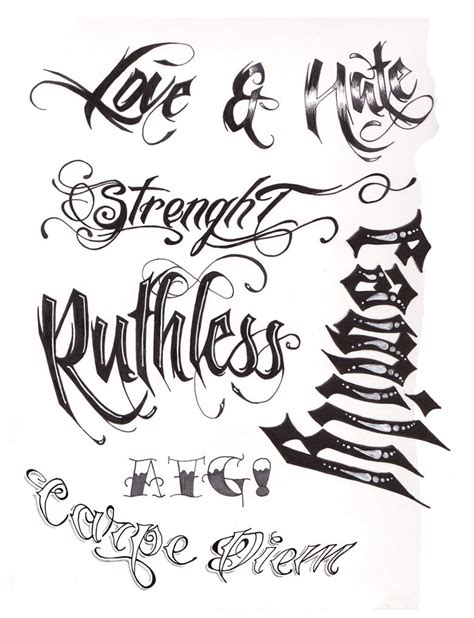 ruthless tattoo script by a t g 4 on deviantart