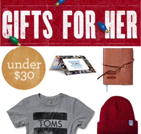 Toms Shoes Gift Card - toms holiday gifts under 30 ideas for women men kids shoes hats gift cards
