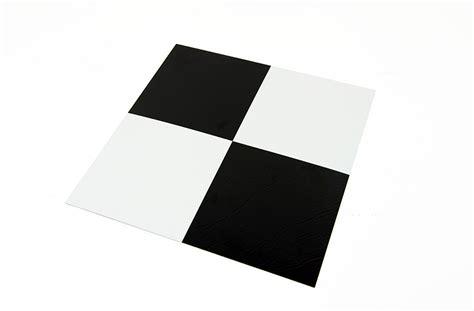 Black & White Self Adhesive Vinyl Tile   Low Cost Flooring