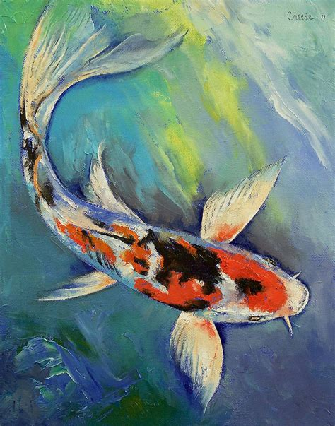 acrylic koi paintings koi fish paintings koi fish