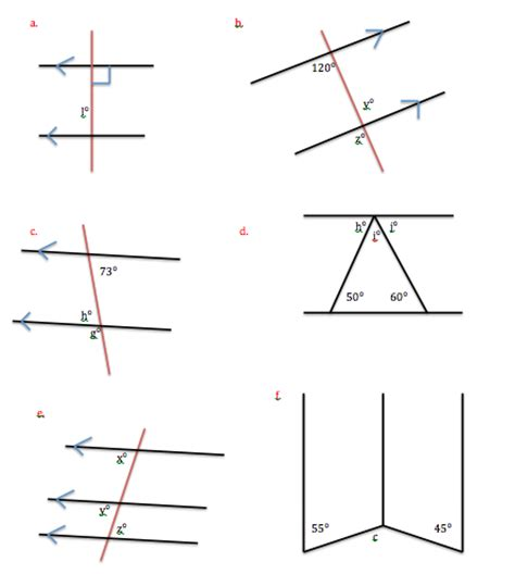 Are Co Interior Angles Equal by Angles And Parallel Lines Geometric Figures