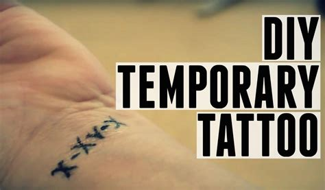how to do a fake tattoo make a temporary last longer home ideas