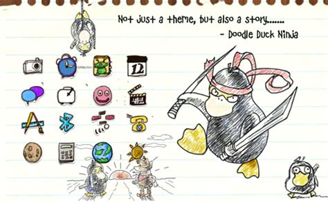 doodle 4 themes tema blackberry unik doodle duck themes blackberry