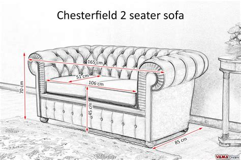 sofa size chesterfield sofa dimensions chesterfield 2 seater sofa