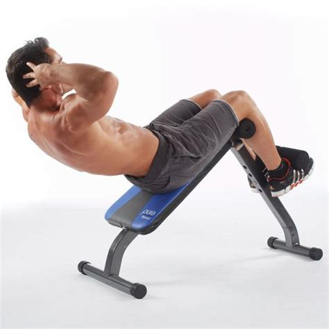 pure fitness ab crunch sit  bench academy