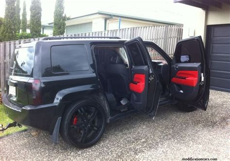 open jeep modified in black colour modified jeep patriot black color modification of cars